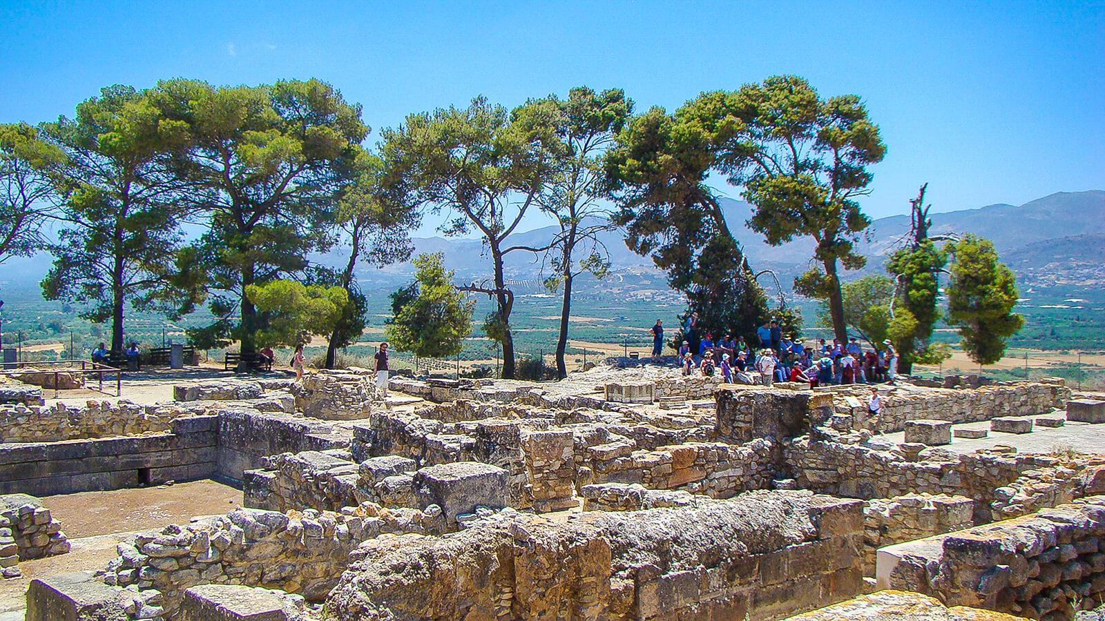 Festos (Faisto) diskas ir jo radimvietė centrinėje Kretoje