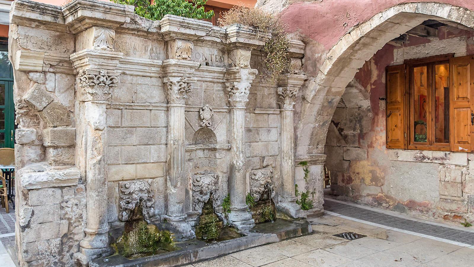 Rimondi venecijietiškas fontanas Retimne, Kreta, Graikija | Mano Kreta