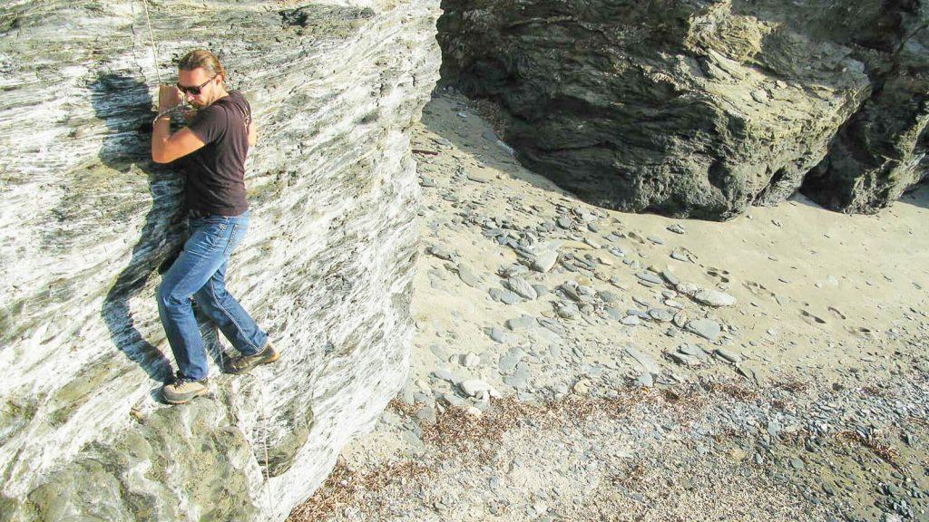 Glaros paplūdimiai. Lipimas su virve. Kreta, Graikija   Mano Kreta