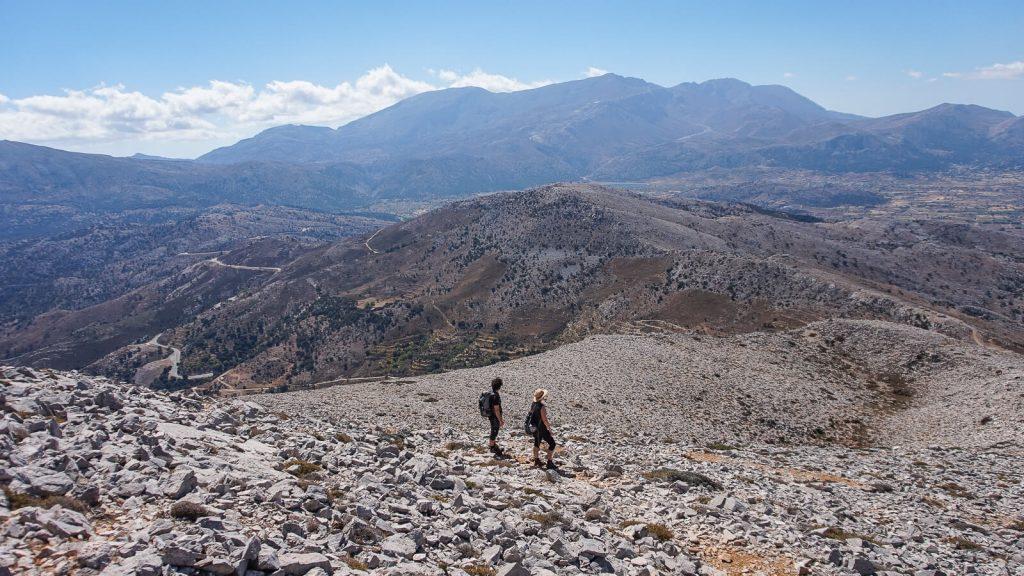 Į Selenos viršūnę – su Aušra ir Kaziu. Pakeliui. Kreta, Graikija | Mano Kreta