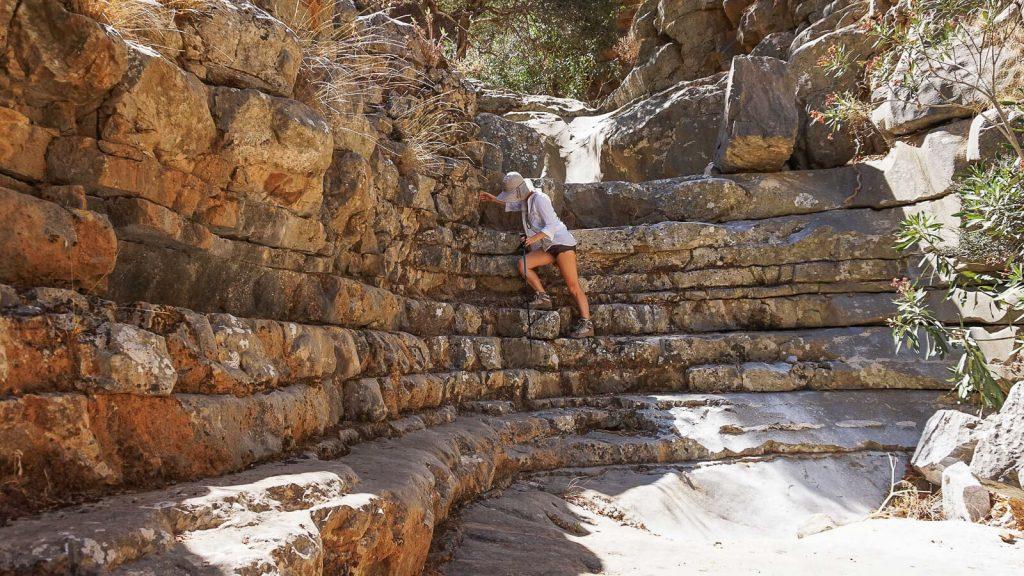Roza tarpeklis – įspūdingų vaizdų medžiotojams. Laiptai. Kreta, Graikija | Mano Kreta