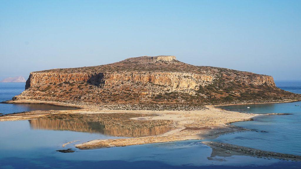 Tigani sala prie Balos lagūnos. Rytas. Kreta, Graikija   Mano Kreta