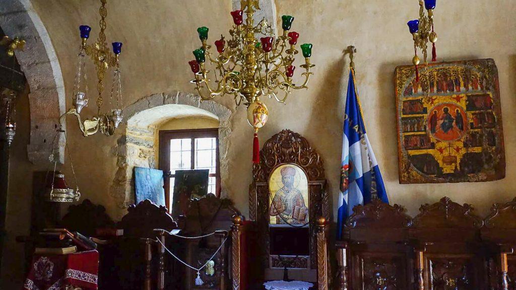 Agios Panteleimon vienuolynas prie Fodelės kaimo. Kreta, Graikija   Mano Kreta