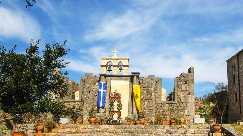 Halepa – vienuolynas su audringa istorija. Cerkvės fasadas. Kreta, Graikija | Mano Kreta