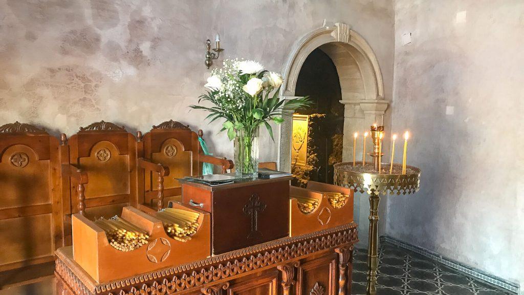 Panagia Faneromeni vienuolynas – prisilietimas prie amžinybės. Cerkvės viduje. Kreta, Graikija | Mano Kreta