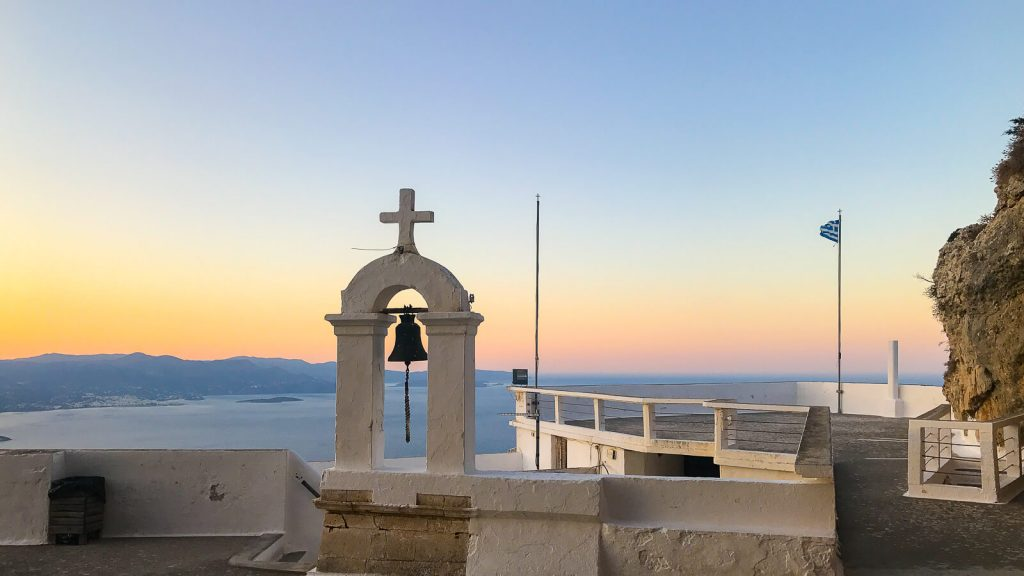 Panagia Faneromeni vienuolynas – prisilietimas prie amžinybės. Vakaro panorama. Kreta, Graikija | Mano Kreta