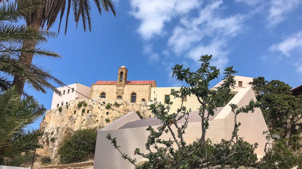 Panagios Chrisoskalitissos vienuolynas prie Elafonissi paplūdimio. Kreta, Graikija | Mano Kreta