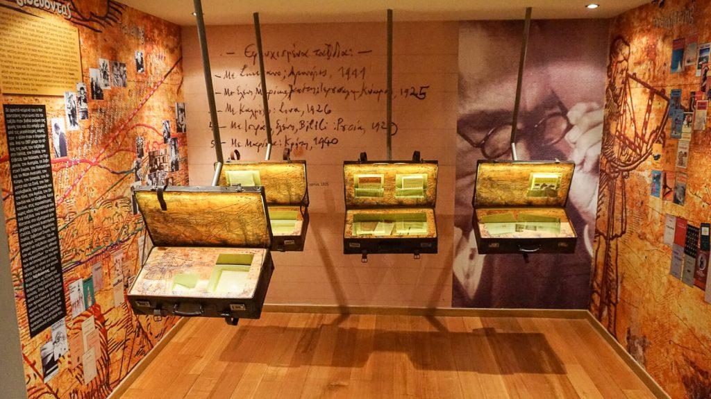 N. Kazantzakio muziejus Myrtia. Asmeniai ir kelionių daiktai. Kreta, Graikija   Mano Kreta
