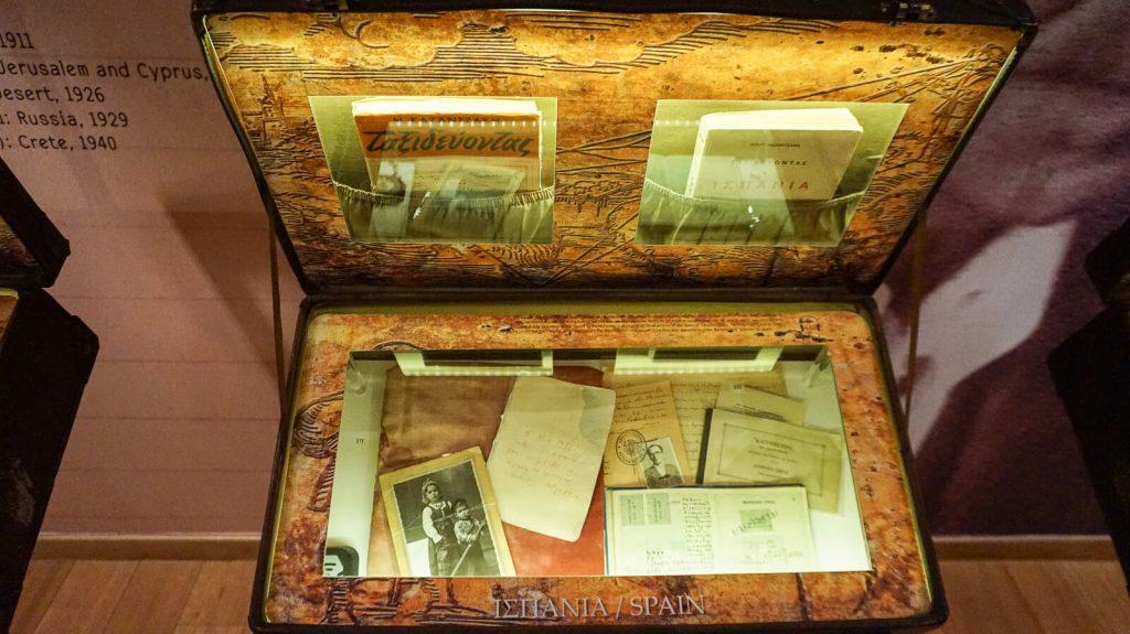 N. Kazantzakio muziejus Myrtia. Asmeniniai daiktai. Kreta, Graikija   Mano Kreta