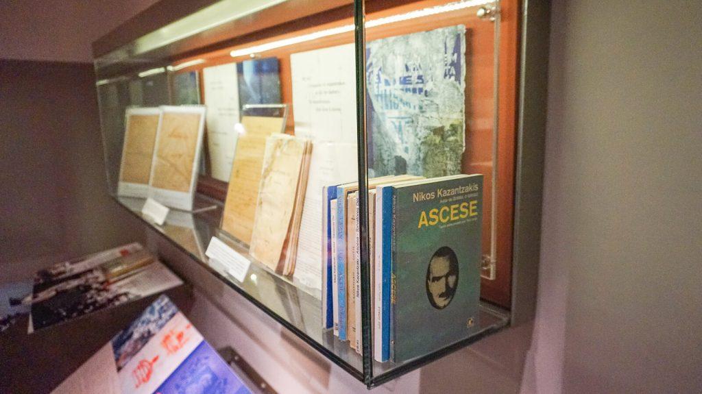 N. Kazantzakio muziejus Myrtia. Knygos. Kreta, Graikija   Mano Kreta