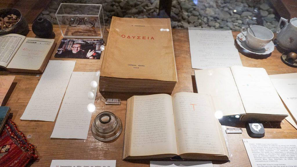 """N. Kazantzakio muziejus Myrtia. """"Odisėjos"""" vertimas. Kreta, Graikija   Mano Kreta"""