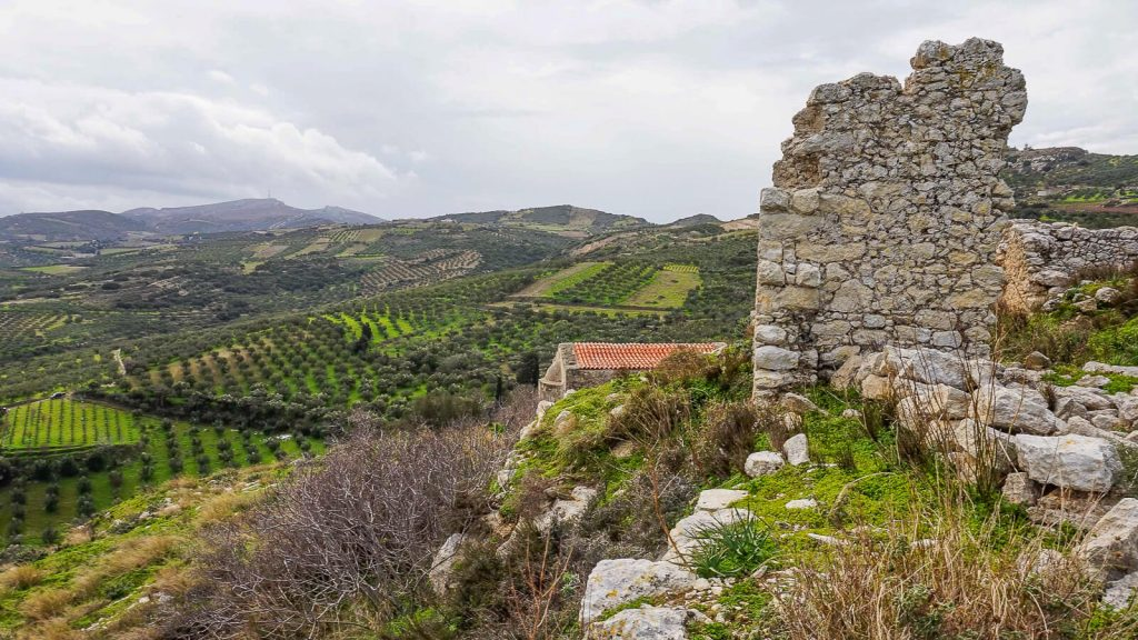 Vyndarių tvirtovė Kretoje – Castel del Corner. Tvirtovės likučiai. Kreta, Graikija   Mano Kreta