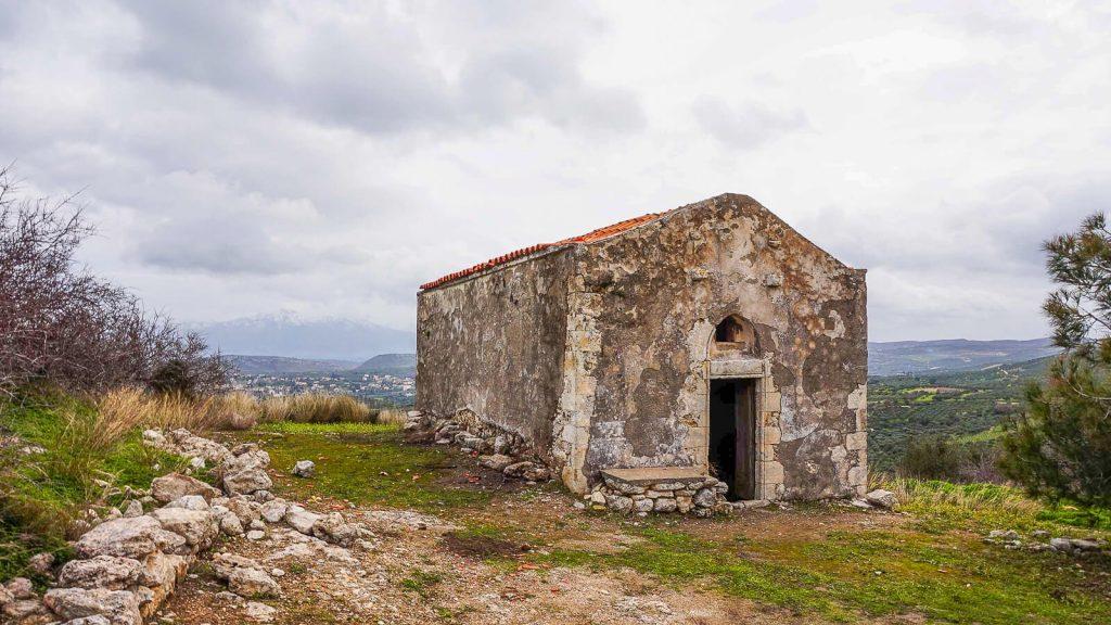 Vyndarių tvirtovė Kretoje – Castel del Corner. Cerkvė. Kreta, Graikija   Mano Kreta