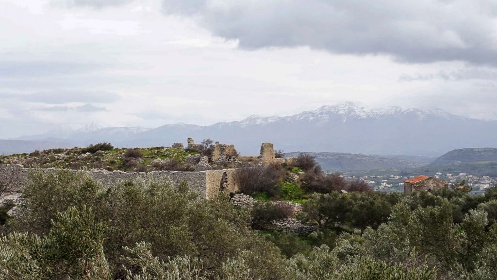 Vyndarių tvirtovė Kretoje – Castel del Corner. Tvirovės sienos. Kreta, Graikija   Mano Kreta