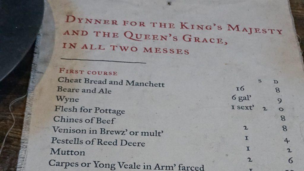 Kiek Anglijoje yra Graikijos? III dalis – Karališkieji Hampton (Hemptono) rūmai. Karališkosios vakarienės meniu. | Mano Kreta