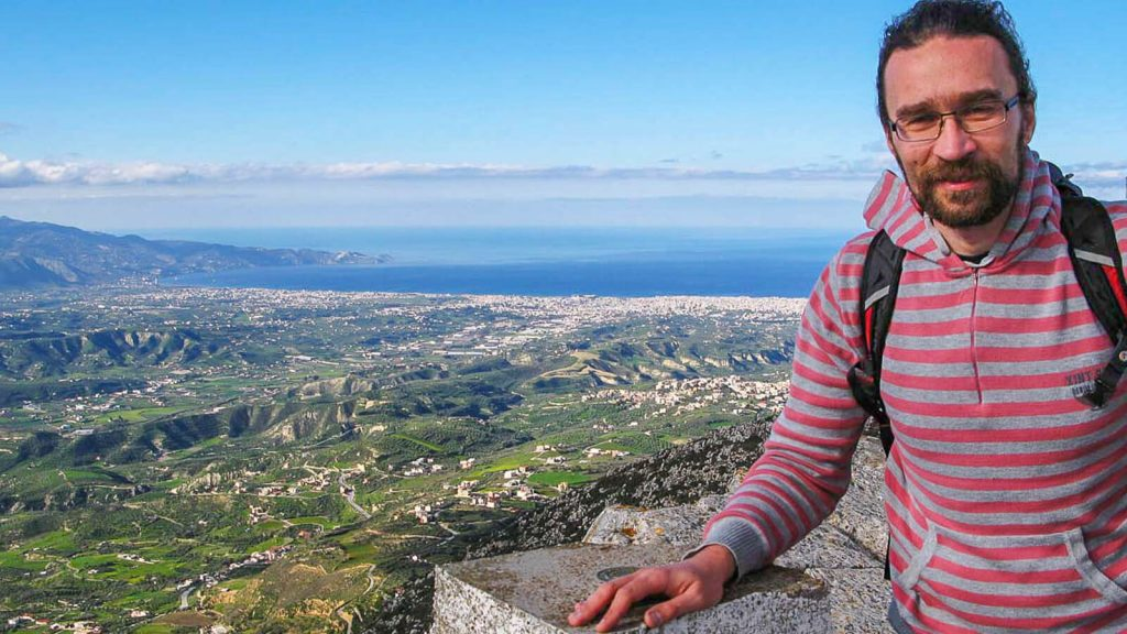 Jiouchtas – šventas Kretos kalnas. Panorma nuo kalno. Kreta, Graikija | Mano Kreta