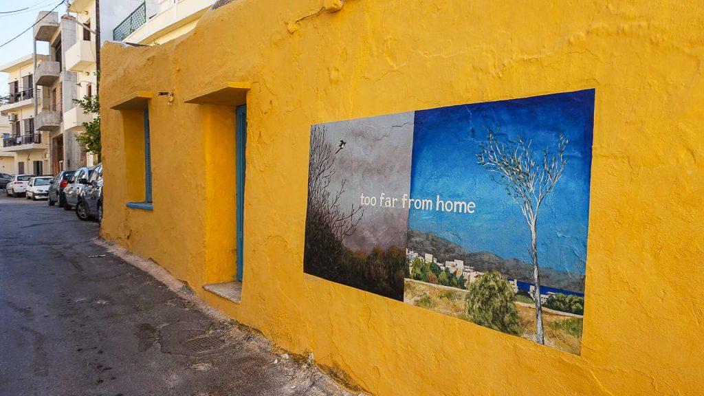 Lakkos Heraklione - kaip Vilniaus Užupyje. Ant Lakkos rajono sienų. Kreta, Graikija | Mano Kreta