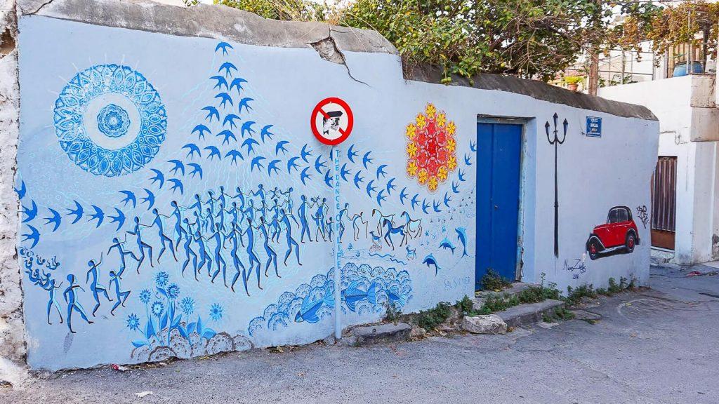 Lakkos Heraklione - kaip Vilniaus Užupyje. Lakkos gatvės piešiniai. Kreta, Graikija | Mano Kreta