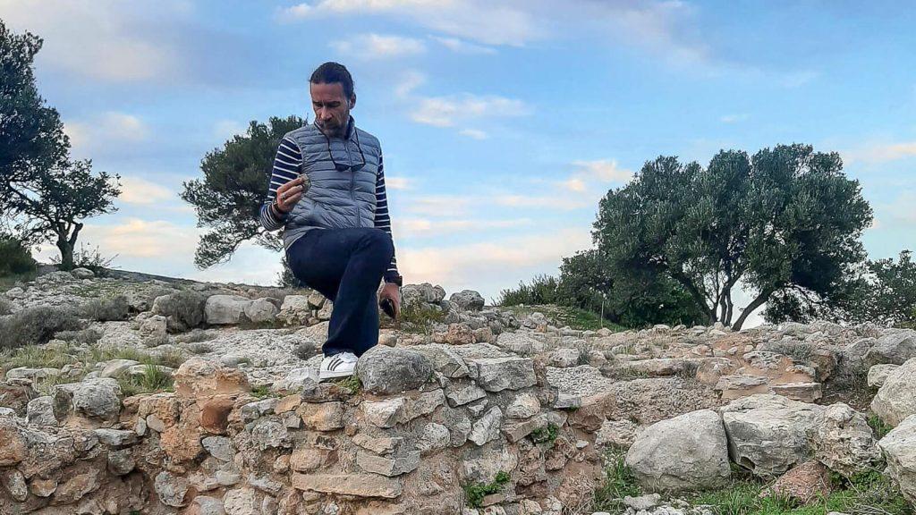 Čia gyveno prieš 4500 metų. Audrius žvalgosi. Kreta, Graikija | Mano Kreta