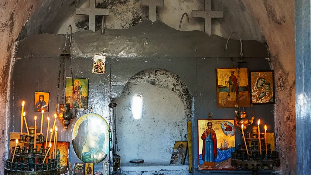 Stavros kyšulys. Agios Sozon cerkvėje. Kreta, Graikija | Mano Kreta