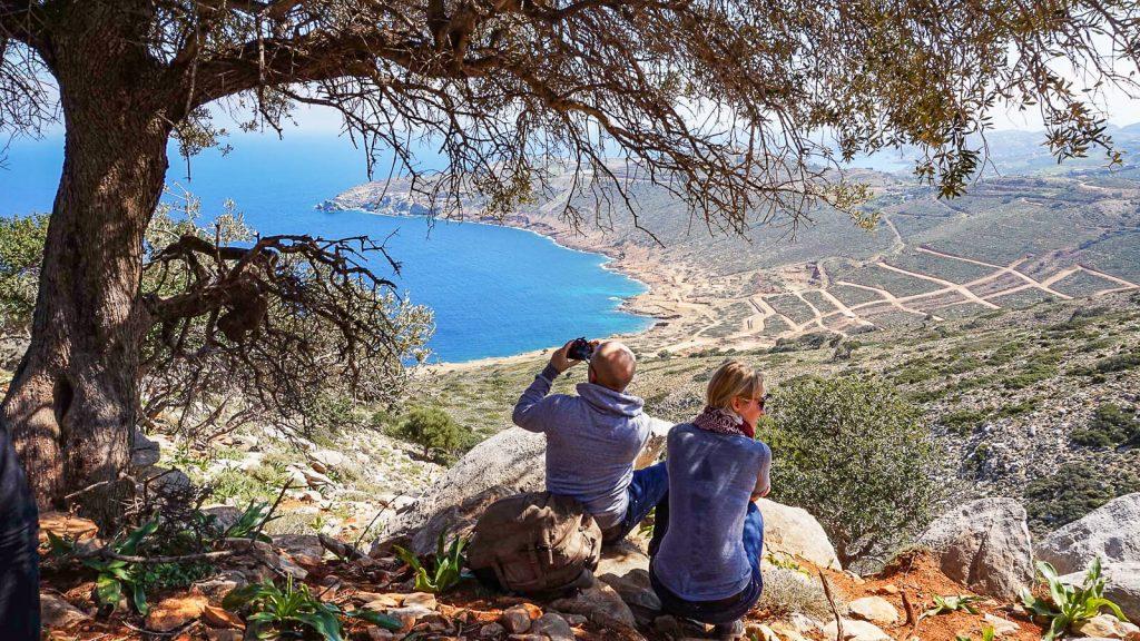 Poilsio pertraukėlė. Stavros kyšulio link. Kreta, Graikija | Mano Kreta