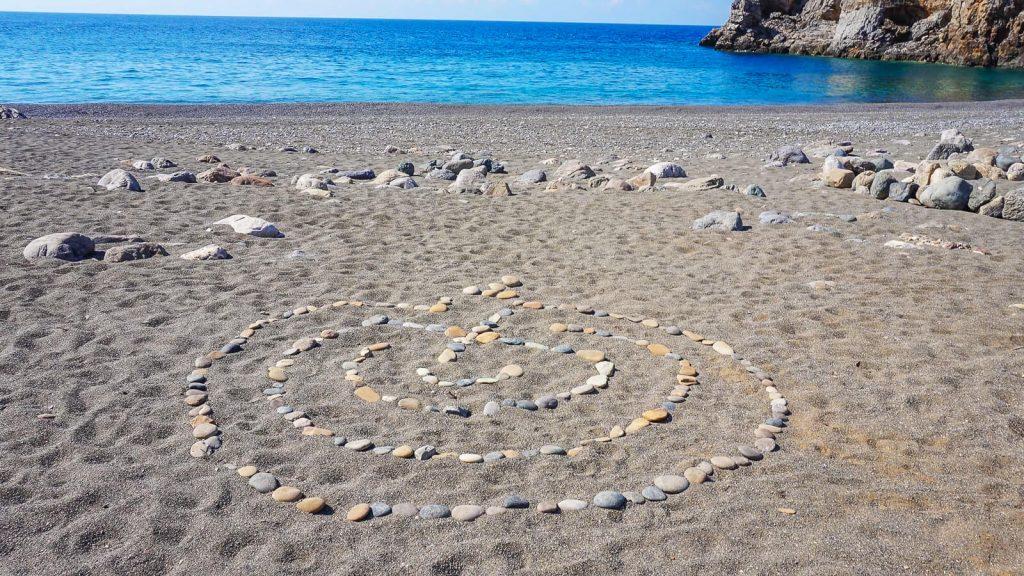 Trafoulas – paplūdimys su mistiniais ženklais. labirintas. Kreta, Graikija | Mano Kreta