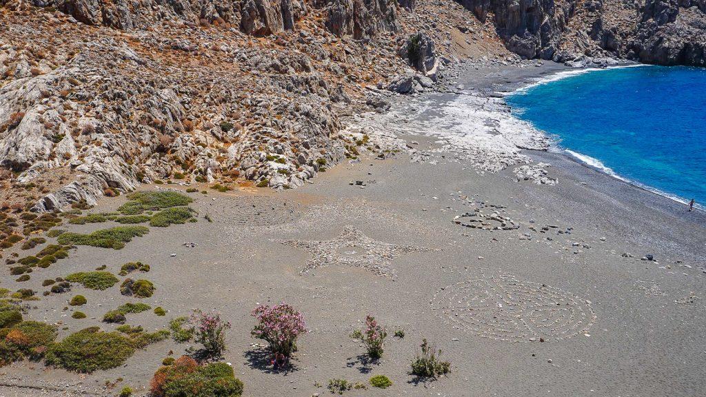 Trafoulas – paplūdimys su mistiniais ženklais. Kreta, Graikija | Mano Kreta