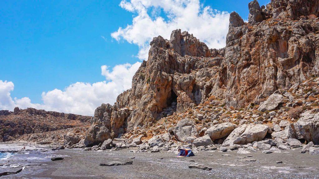 Trafoulas – paplūdimys su mistiniais ženklais. Paplūdimio ruožas. Kreta, Graikija | Mano Kreta