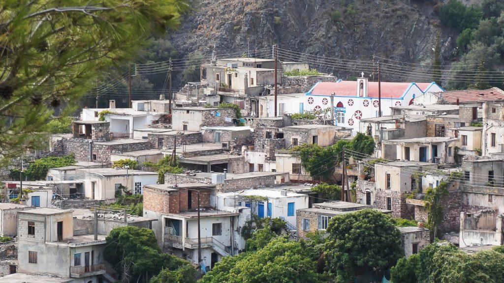 Apleisti kaimai Kretoje. Kalami kaimas. Kreta, Graikija   Mano Kreta