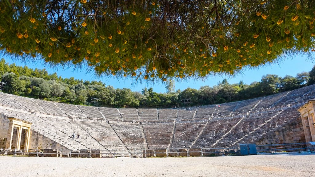 Atostogos Peloponese - V d. Epidauro amfirteatras. Graikija | Mano Kreta