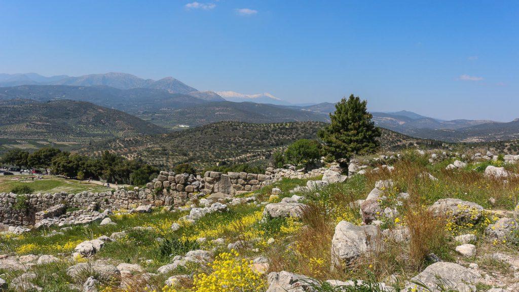 Atostogos Peloponese - V d. Mikėnų archeologinės vietovės panorama. Graikija | Mano Kreta