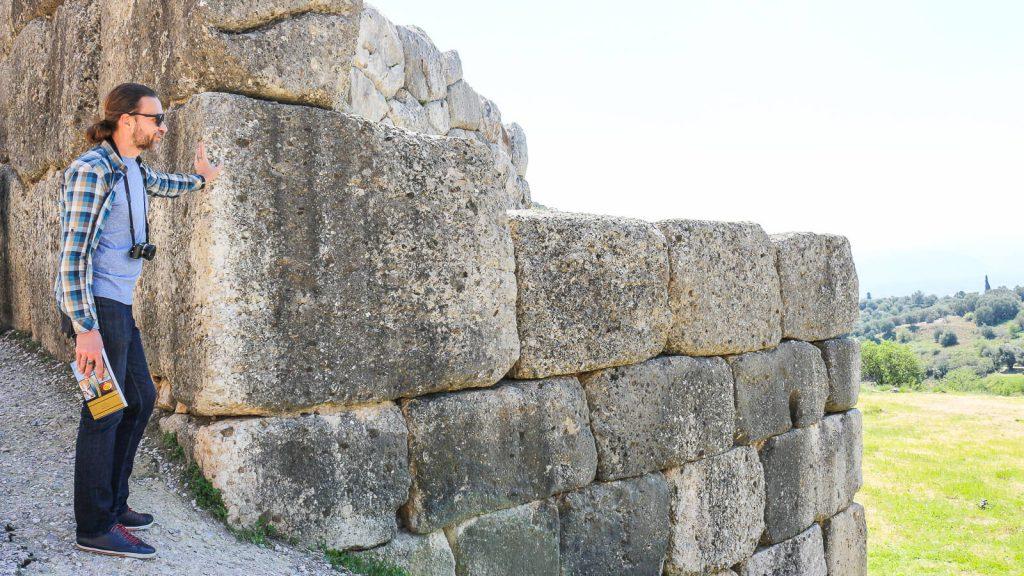 Atostogos Peloponese - V d. Mikėnų rūmų gynybinės sienos. Graikija | Mano Kreta