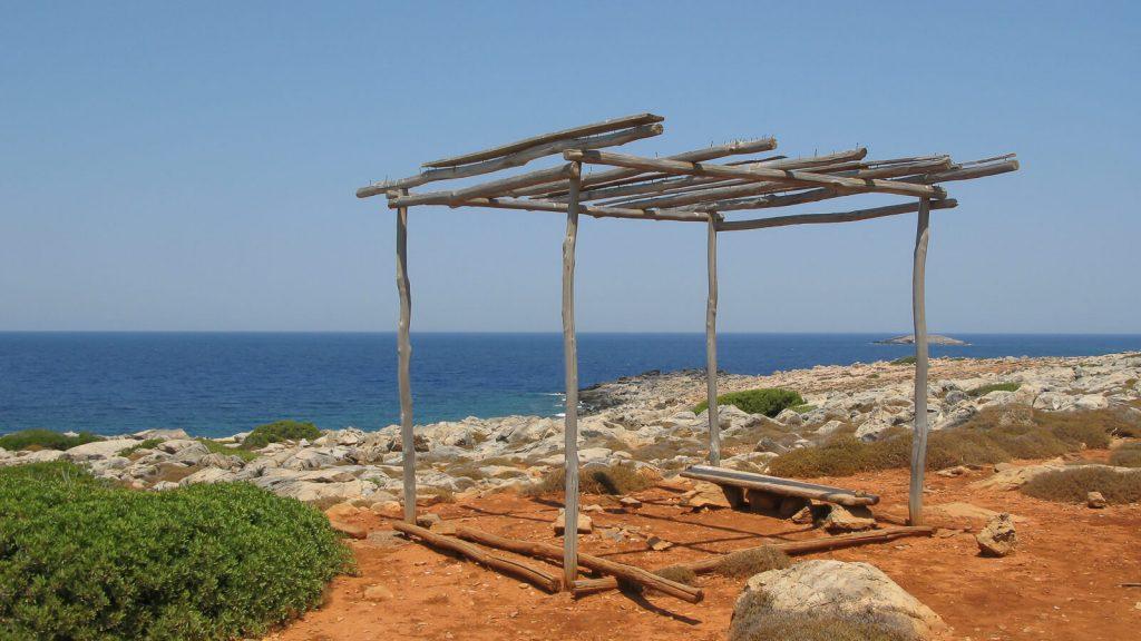 Dia – apleista Dzeuso sala priešais Heraklioną. Saloje. Kreta, Graikija   Mano Kreta