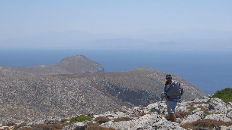 Dia – apleista Dzeuso sala priešais Heraklioną. Vidudienio karštis Dia saloje..  Kreta, Graikija | Mano Kreta