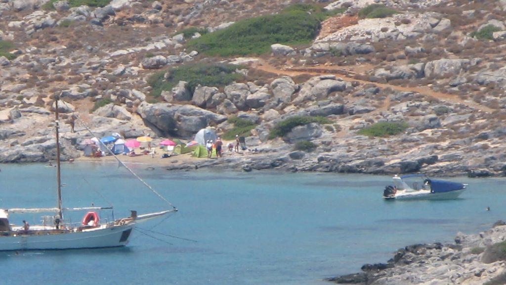 Dia – apleista Dzeuso sala priešais Heraklioną. Paplūdimiai Dia saloje. Kreta, Graikija   Mano Kreta