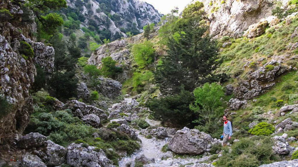 Imbros tarpeklis – senasis takas į Chorą Sfakion. Siaurosios tarpeklio atkarpos. Kreta, Graikija | Mano Kreta