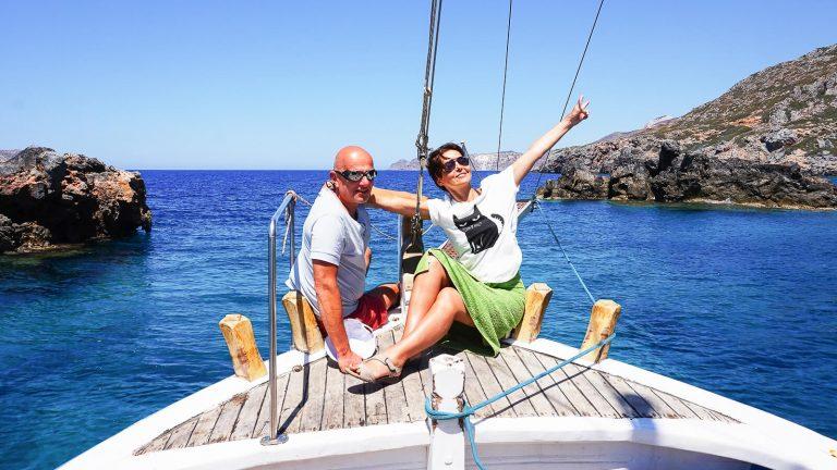 Iškyla laivu su Audre ir Gintaru. Kreta, Graikija | Mano Kreta