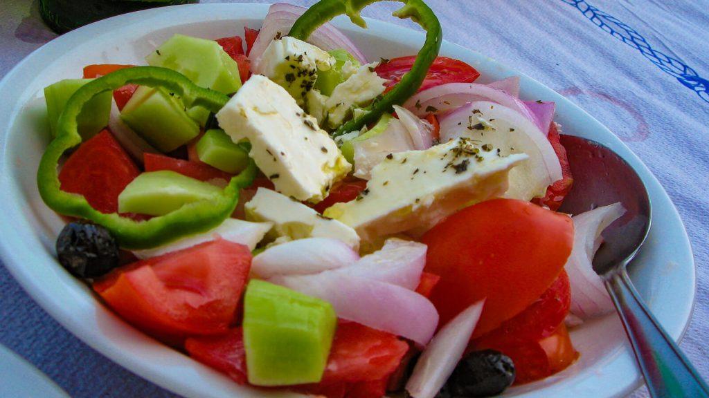 Graikiškos salotos. Kreta, Graikija | Mano Kreta